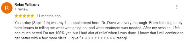 Chiropractic Mill Hall PA Patient Testimonial